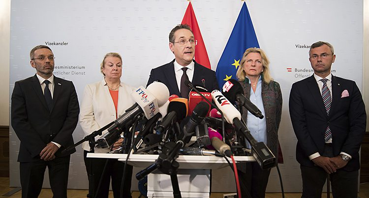 Österriket vice statsminister Heinz-Christian Strache.