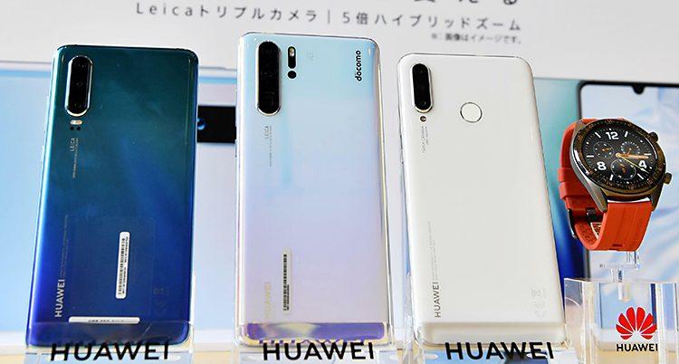 Mobiltelefoner från Huawei.