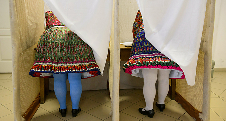 APTOPIX Hungary European Elections