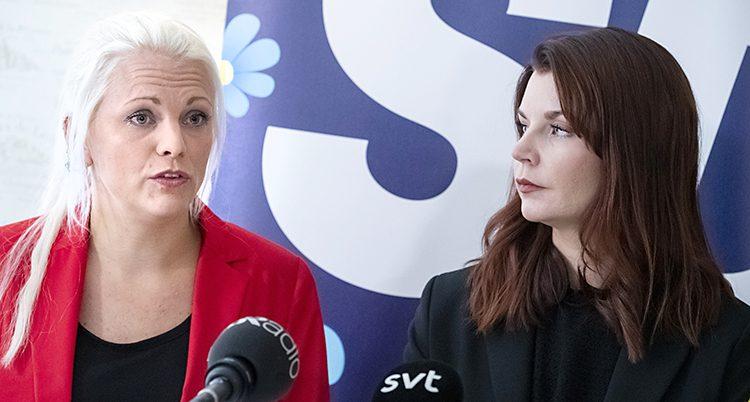 Moderaternas Emilie Pilthammar och SD:s Louise Erixon