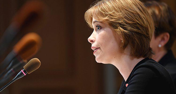 Ministern Annika Strandhäll.