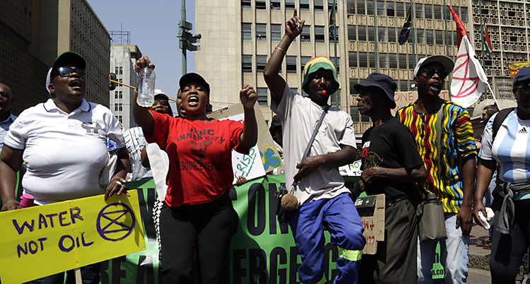 South Africa Climate Protests