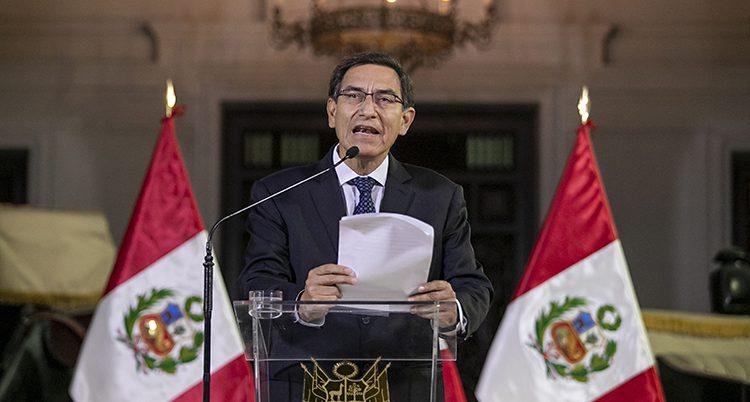 Perus president Martín Vazcarra.