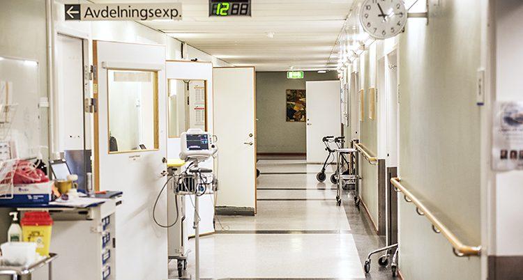 Korridor på Uddevallas sjukhus.