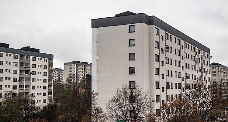 Ett höghus från Bredäng.