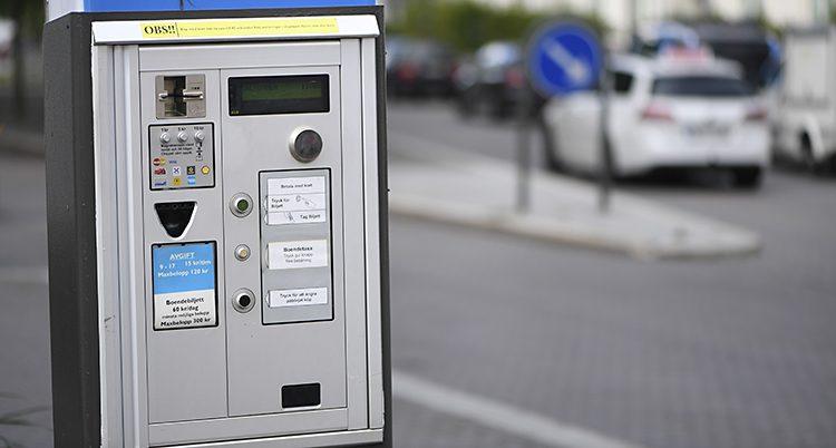 En parkeringsautomat i Stockholm.