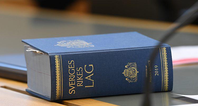 En bild på Sveriges lagbok.