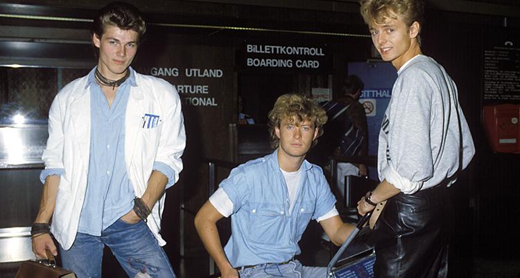 De tre killarna i Aha. En bild från 80-talet.