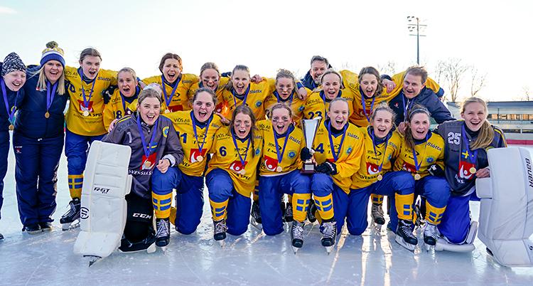 VM Bandy Damer 2020  Finale Sverige - Russland