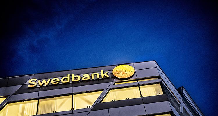 Bild på Swedbanks kontor.