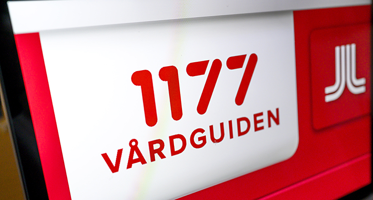 En skylt med telefonnumret 1177 på.