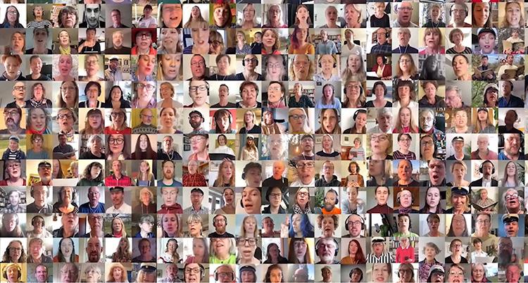 En bild med hundratals små ansikten
