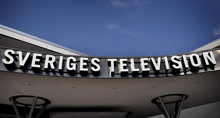 En skyld där det står Sveriges television.
