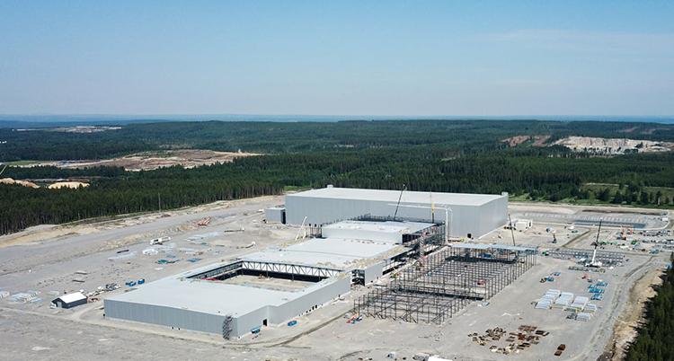 Det ska bli en stor fabrik för batterier i Skellefteå. Foto: Northvold