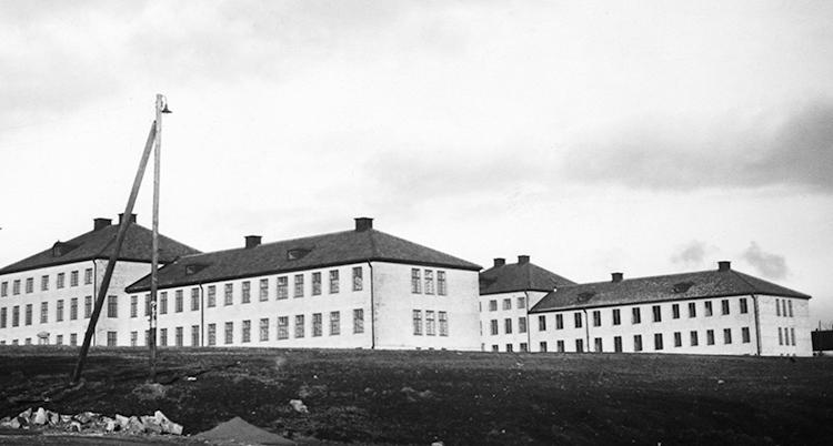 En svartvit bild på byggnaden Vipeholm.