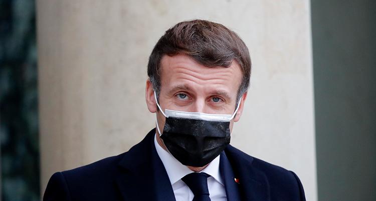 En bild på presidenten med munskydd.