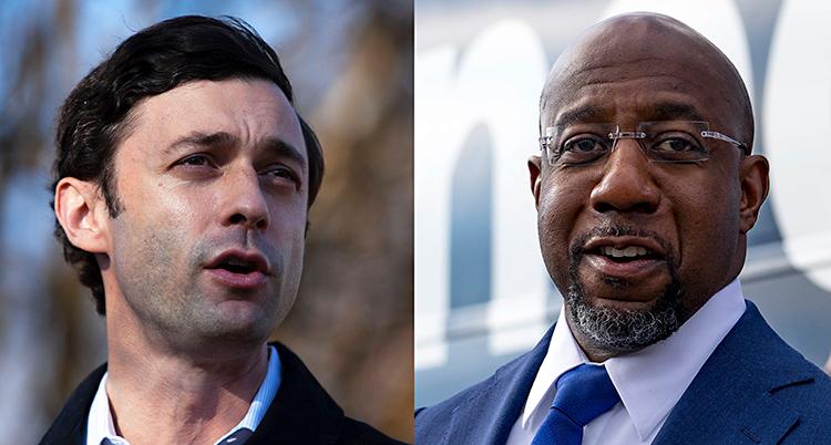 Två porträttbilder som har satts ihop till en bild. Till vänster är en ung vit man med mörkt hår. Till höger är en lite äldre svart man med rakat huvud.