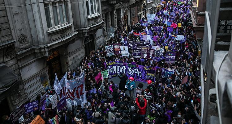 APTOPIX Turkey Women's Day