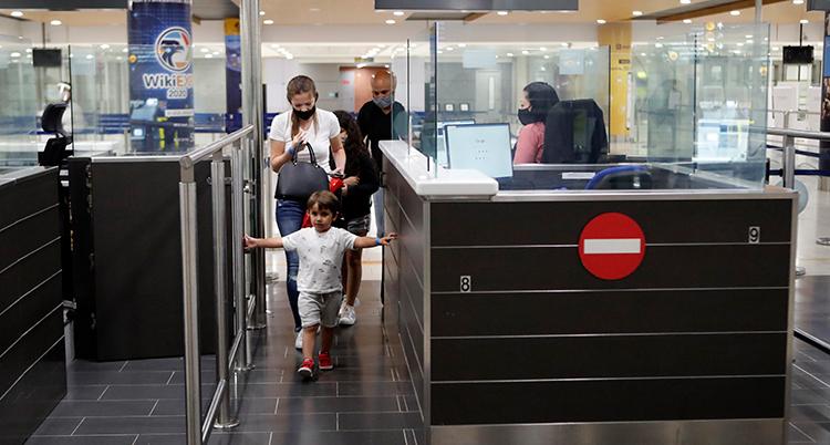 Virus Outbreak Cyprus Flights