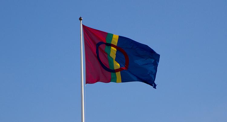 Samernas färgglada flagga.