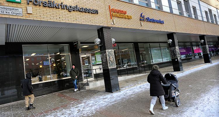 ett servicekontors entre i stockholm.