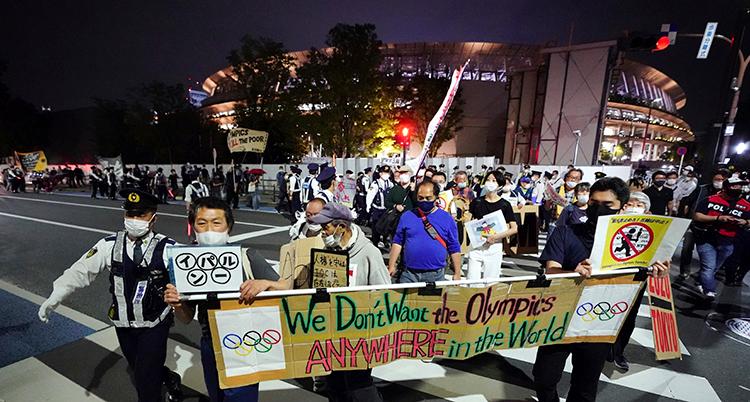 Japan Olympics Protest