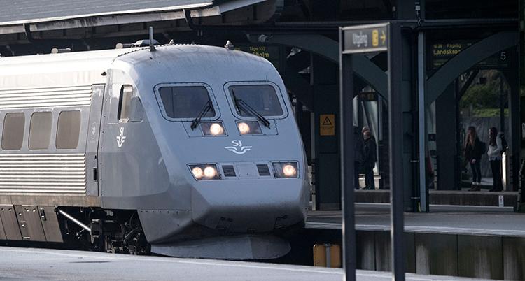 Bild på SJ-tåg i Lund.