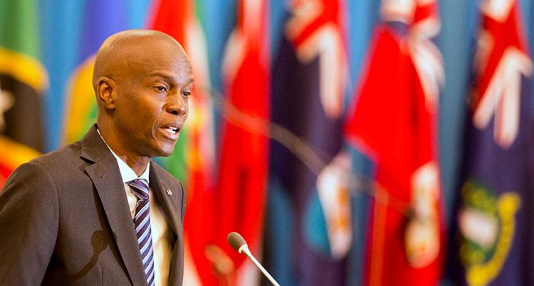 Bild på Jovenel Moïs, Haitis tidigare president som blev mördad i natt.
