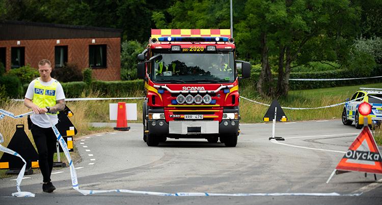Bild på området där en person dog efter en olycka med ett tåg.