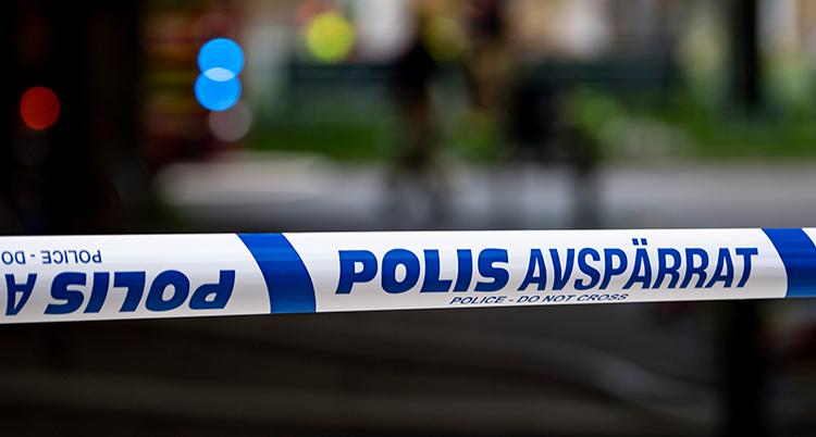 Bild på polisavspärrning.