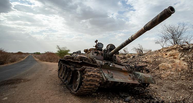 Bild på en stridsvagn i Etiopien.