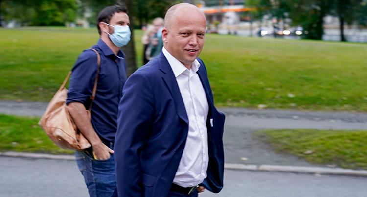 Folkemøte med statministerkandidatene Erna Solberg, Trygve Slagsvold Vedum og Jonas Gahr Støre