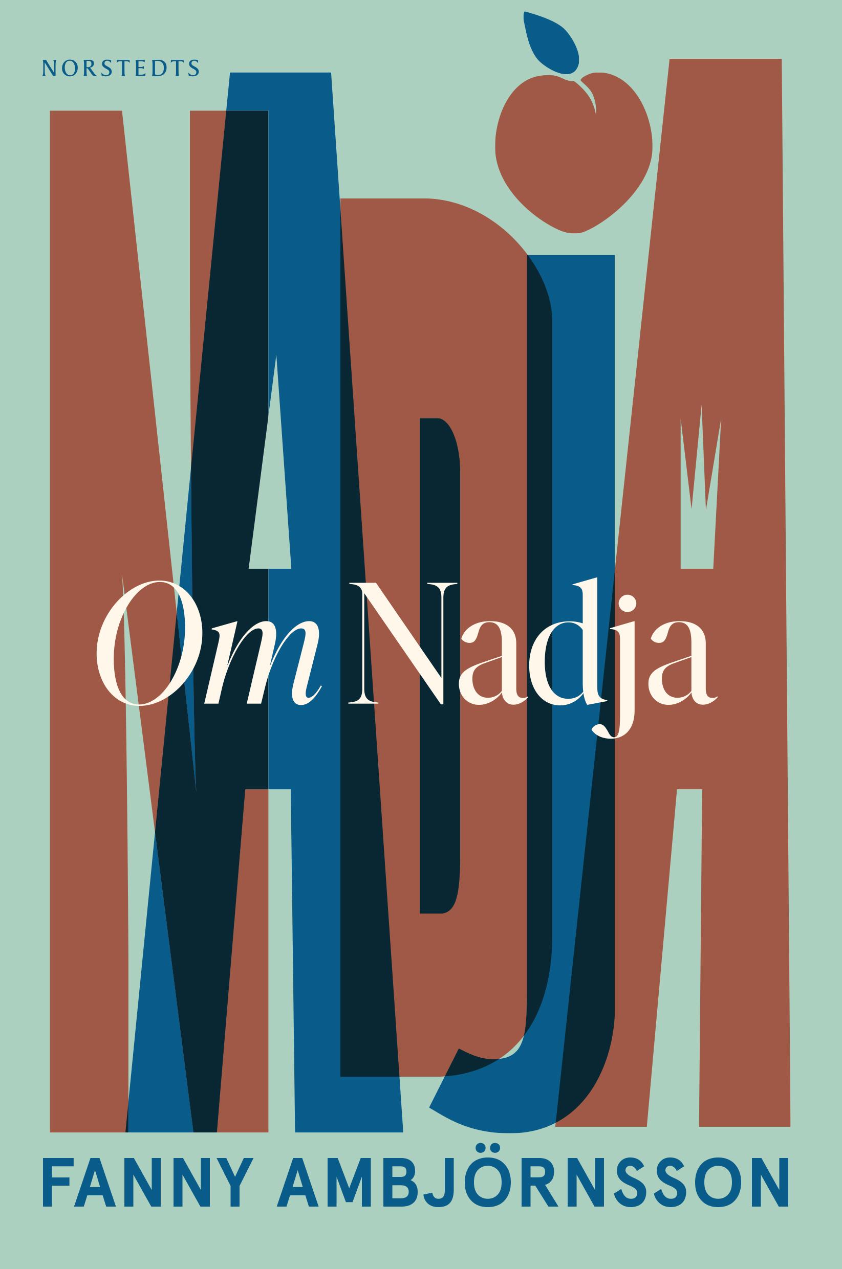 Boken är mintgrön med Nadja skrivet med stora bokstäver över.