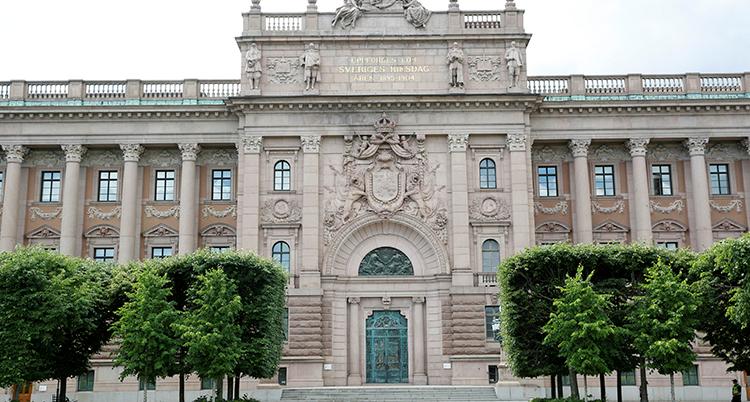 Riksdagshuset från utsidan.